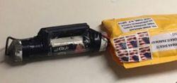 CNN방송 뉴욕지국이 입주한 타임워너 빌딩에 폭발물이 든 것으로 의심되는 소포. [AP=연합뉴스]