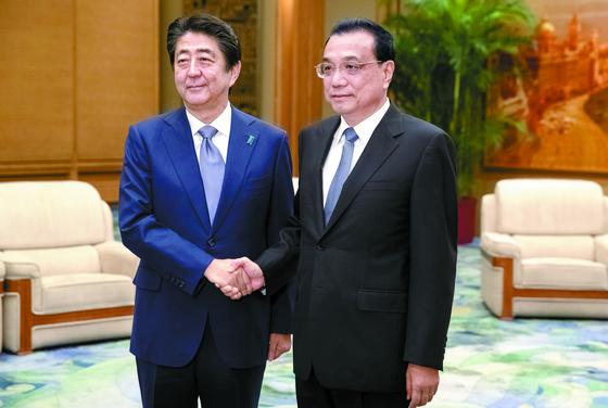[사진] 일본 총리 7년 만에 방중