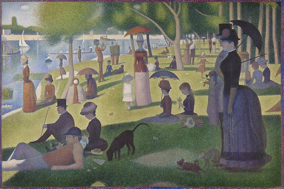 시카고 미술관이 소장한 조르주 쇠라의 '그랑드자트 섬의 일요일 오후' [사진 시카고 미술관]