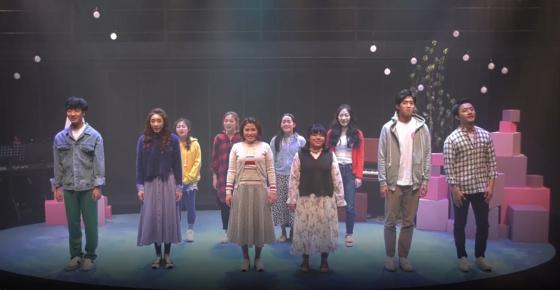 지난 18일 서울 대학로 CJ아지트에서 미혼한부모와 프로 배우들이 함께 무대에 선 뮤지컬 '히시태그' 공연이 열렸다. [동영상 캡처]