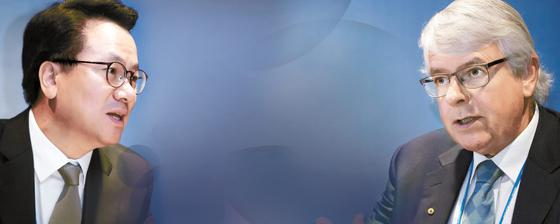 (왼쪽) 김영식 조직위원장 서울아산병원 가정의학과 주임교수 대한약물역학 위해관리학회 부회장 전 대한임상건강증진학회 회장 전 대한가정의학회 이사장 (오른쪽) 마이클 우드워드 교수 호주 멜버른 오스틴병원 노인병학과 교수 호주왕립의대 의사교육위원회 위원 호주 연방 보훈부 산하 학술지(MATES program) 편집위원 2016년 호주 국민훈장 수여(노인의학·치매 분야 연구 공로)