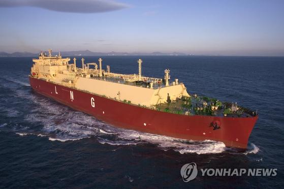삼성중공업이 건조한 LNG선. [연합뉴스]
