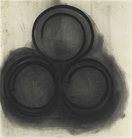 리차드 세라의 1974년 작품 Untitled. 이 작품은 종이에 목탄을 사용해 드로잉한 것으로 2014년 11월 뉴욕 크리스티에서 $1,157,000에 거래되었다. [출처 christies(크리스티)]