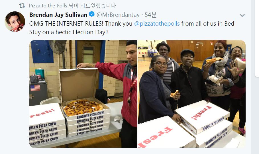 투표소에 피자를(Pizza to Polls) 트위터