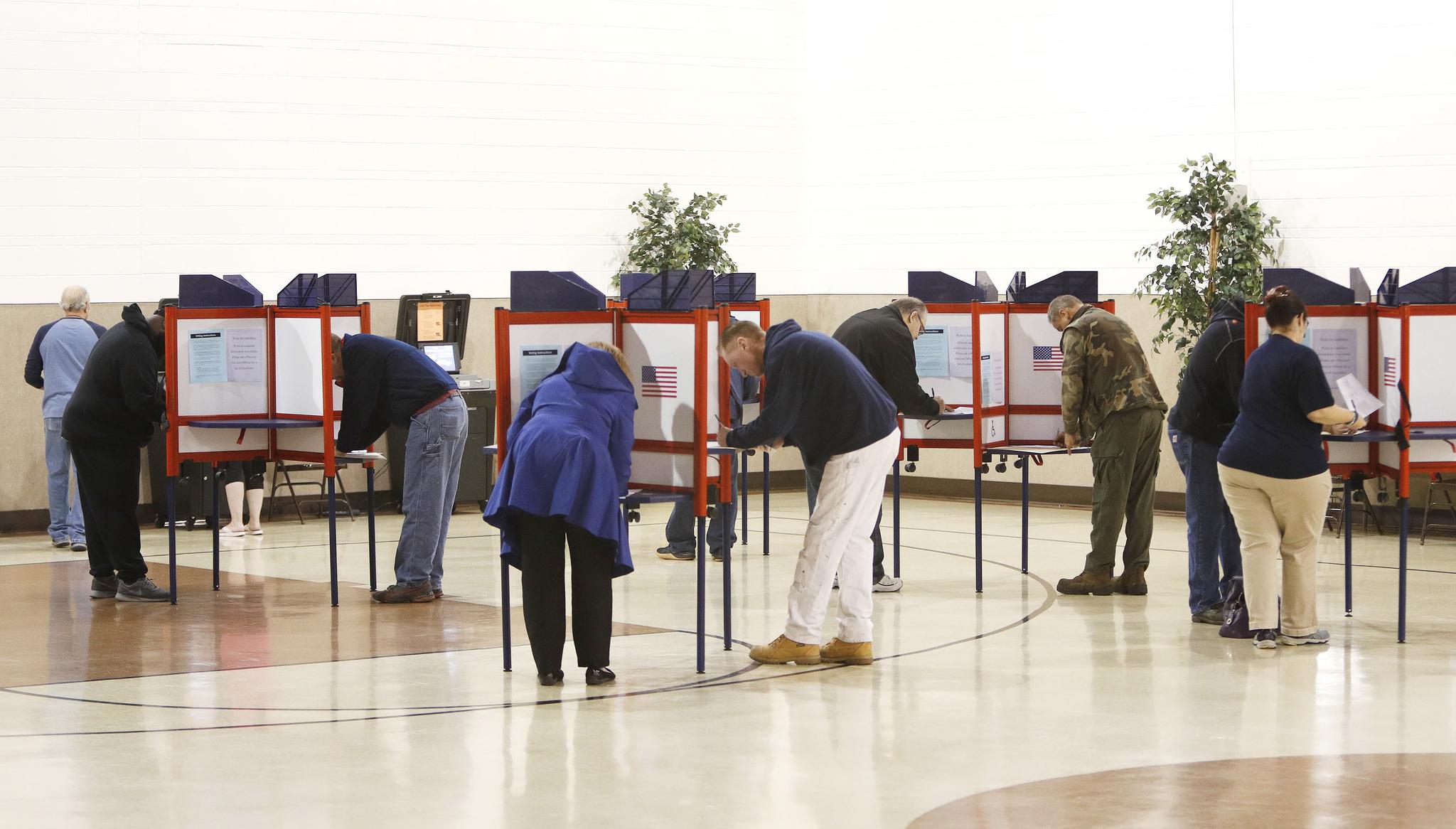 [서소문사진관] 美 중간선거, 지역마다 조금씩 다른 기표소