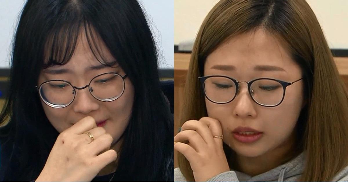 2018 평창 겨울올림픽 여자컬링 국가대표 '팀 킴'의 김초희와 김선영. [사진 SBS 뉴스8]
