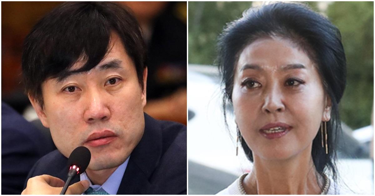 하태경 바른미래당 의원(왼쪽)과 김부선. [뉴스1·연합뉴스]