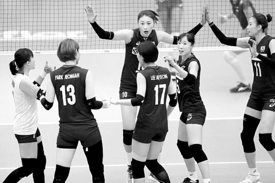 여자배구대표팀. [사진 국제배구연맹]