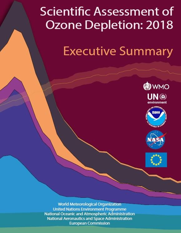 세계기상기구의 2018 오존 고갈 평가 보고서 표지