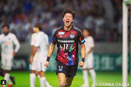 일본프로축구에서 펄펄 날고 있는 감바 오사카 공격수 황의조. [감바 오사카 인스타그램]