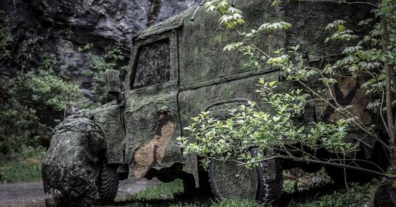 미 육군의 신형 위장막 ULCANS을 덮은 차량. [사진 Fibrotex]