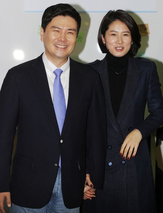 지상욱 의원(왼쪽)과 배우 심은하씨. [뉴스1]
