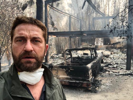 영화 '300' 배우 제라드 버틀러, 산불로 폐허된 집 공개