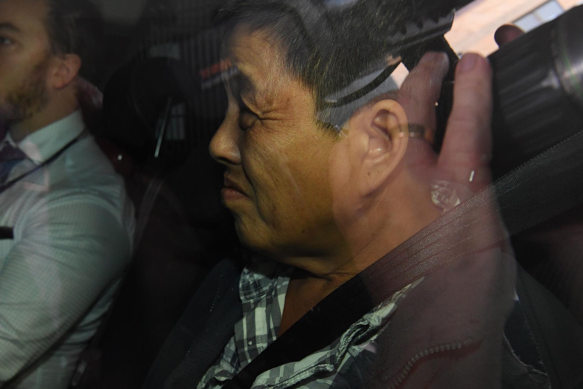 체포된 '바늘 딸기' 용의자. [EPA=연합뉴스]
