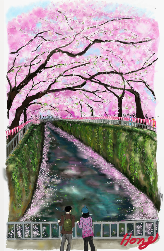 벚꽃 길이 칠흑 같은 밤길로…신혼의 단꿈 깨는 이것
