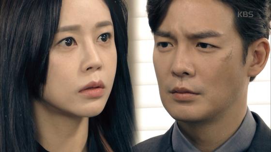 KBS '끝까지 사랑'에 출연중인 이영아(왼쪽)와 강은탁. [사진 KBS]