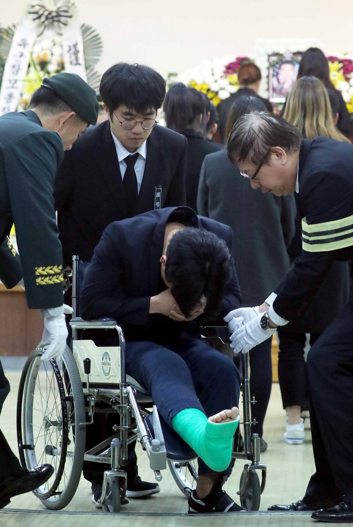 사고 순간 함께 있었던 故윤창호씨 친구의 오열
