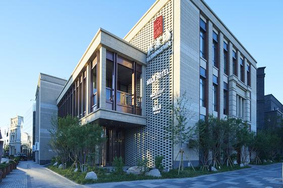 베이징 무지호텔의 외관. 단순한 삶을 추구하는 중국 밀레니얼을 중심으로 호평을 받고 있다. [사진 UDS]