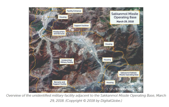 국제전략문제연구소(CSIS)는 공식적으로 확인되지 않은 약 20곳의 '미신고(undeclared ) 미사일 운용 기지' 중 13곳의 위치를 확인했다며 이 중 삭간몰 미사일 기지를 분석한 내용을 공개했다. 연합뉴스
