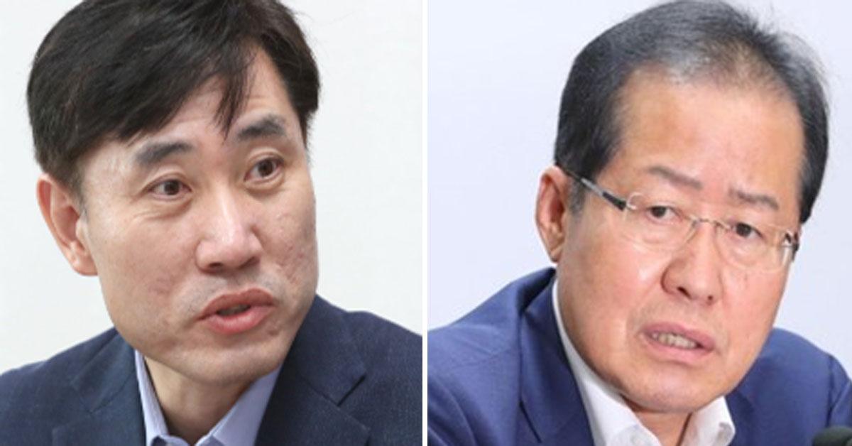 하태경 바른미래당 최고위원, 홍준표 자유한국당 전 대표. [연합뉴스]