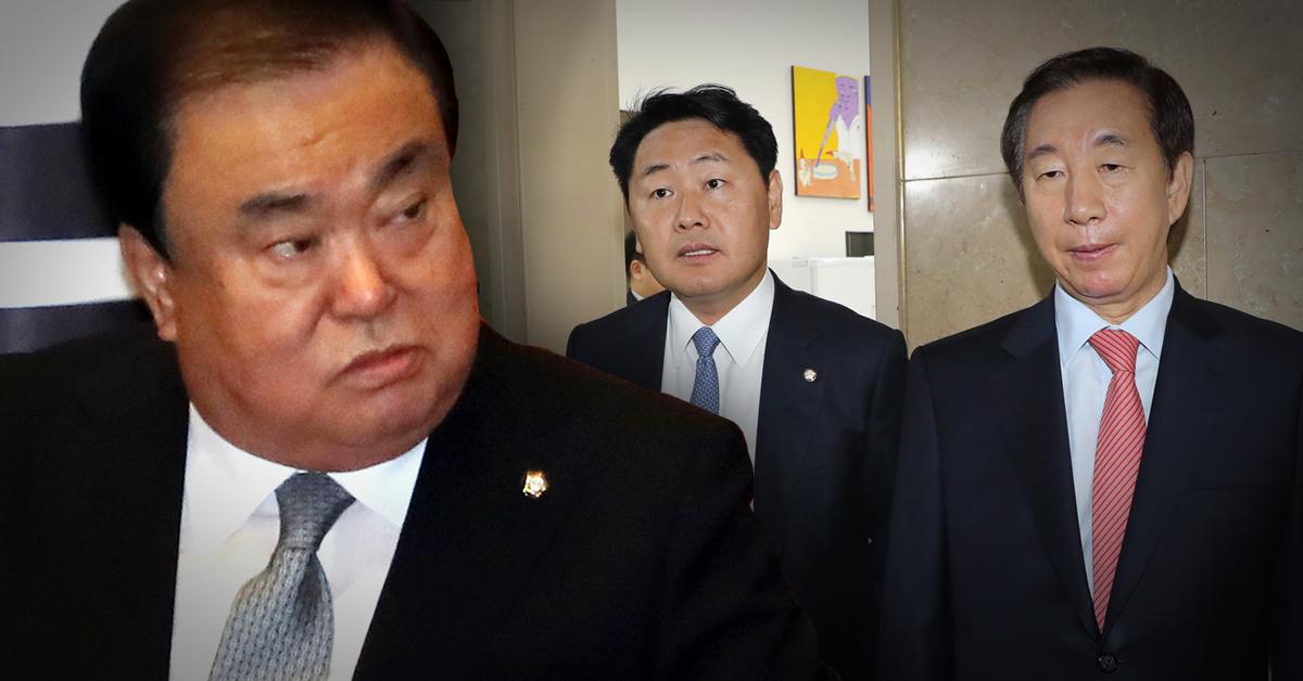 """문희상 """"임무 해태, 부끄럽다""""…한국·바른미래 보이콧 국회 본회의 무산"""