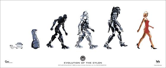 로봇 '사일런'의 진화 과정. 과학기술이 발전하면서 지능은 물론 겉모습까지 사람과 똑같아진다.