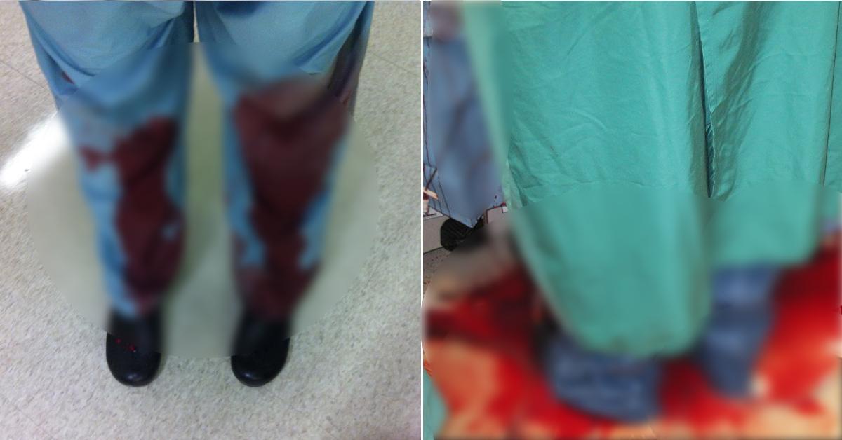 """""""이것이 우리 영역""""…美의사들, 피범벅 수술복 사진 올린 이유"""