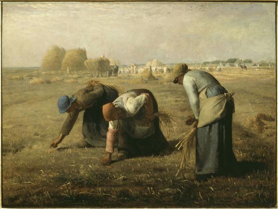 이삭 줍는 여인들, 1857년작, 장 프랑수아 밀레. [중앙포토]