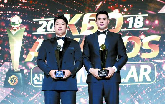 김재환 힘겨운 MVP, 강백호 빛나는 신인왕