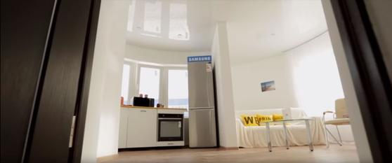 아피스코어가 건축한 3D 프린팅 하우스 내부 모습. [사진 유튜브 캡처]