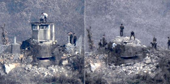 북측이 지난 10일과 11일 양일간에 걸쳐 북한 중부전선 GP(사진)를 철거했다. 남측도 15일 강원도 철원지역 중부전선 GP 철거를 진행했다. [사진 국방부]
