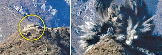 [사진] 북한 GP 10곳 동시 폭파