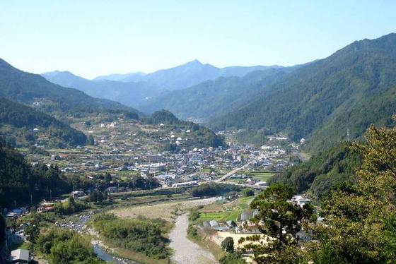 도쿠시마현 카미야마의 전경. [사진 NPO그린밸리]