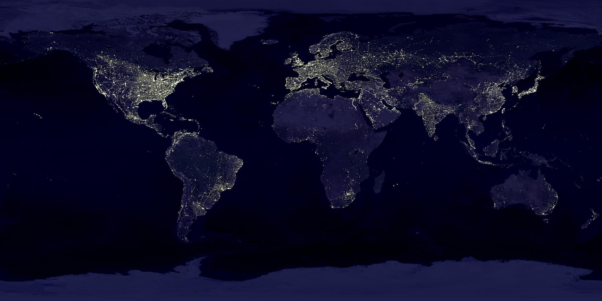 지구의 밤 [사진 NASA]