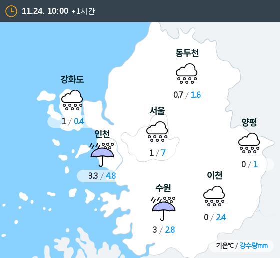 2018년 11월 24일 10시 수도권 날씨
