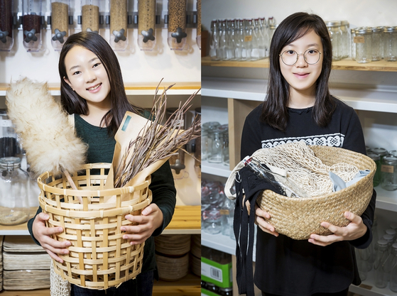 (왼쪽)김신희 학생모델, 김채린 학생기자.