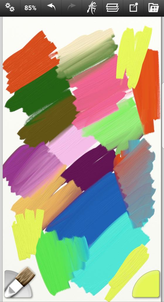 앱 실행 후 되도록 다양한 색으로 화면을 채워준다. 거의 모든 앱에서 가능하다. [사진 홍미옥]