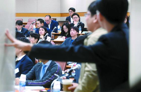 지난 19일 경기 고양시 사법연수원에서 전국법관대표회의가 진행되고 있다. 강정현 기자