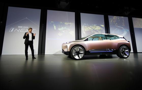 BMW Vision iNEXT 전기 자율 컨셉 카.[로이터=연합뉴스]