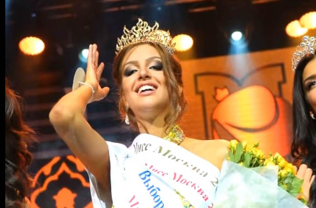 말레이시아의 술탄 무하마드 5세(49) 국왕과 결혼한 것으로 알려진 2015년 미스 모스크바 출신의 모델 옥사나 보예보디나(25). [사진유튜브 캡쳐]