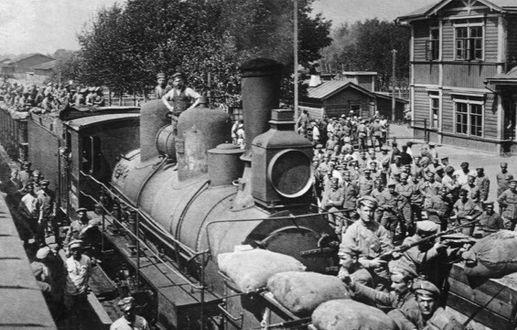 6만 명이 넘는 체코 군단 장병이 열차로 시베리아를 횡단 중이다. [사진 위키피디아]