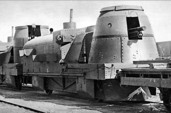 러시ㅏ의 무장열차. [사진 위키피디아]
