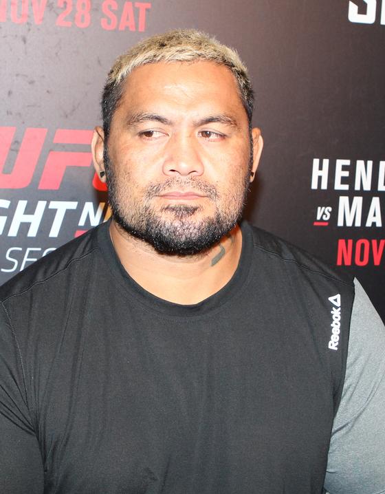 지난 2015년 UFC 서울 대회를 기념해 서울 방문했던 마크 헌트. [중앙포토]
