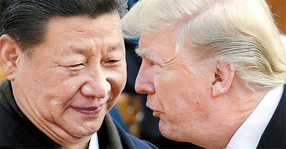 시진핑 중국 국가 주석과 도널드 트럼프 미국 대통령. [AP=연합뉴스]