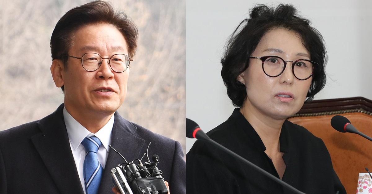 이재명 경기지사(왼쪽)와 이 지사의 형수 박인복씨. [뉴스1·연합뉴스]