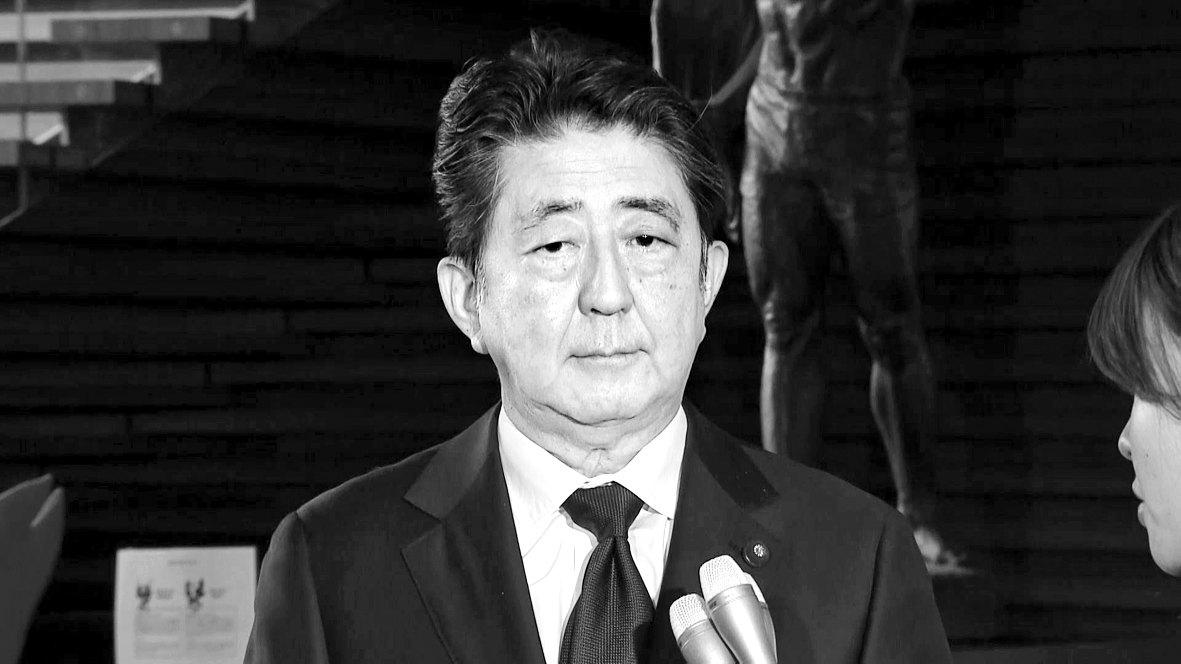 아베 신조 일본 총리가 21일 한국 정부의 위안부 재단 해산에 대한 입장을 밝히고 있다. [TV아사히 화면 캡쳐]