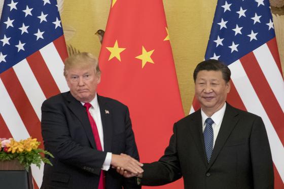 도널드 트럼프 미국 대통령과 시진핑 중국 국가주석. [AP=연합뉴스]