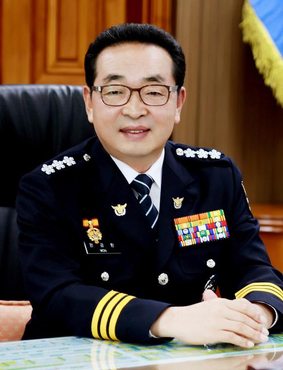 3일 서울경찰청장에 취임한 원경한 청장 [중앙포토]