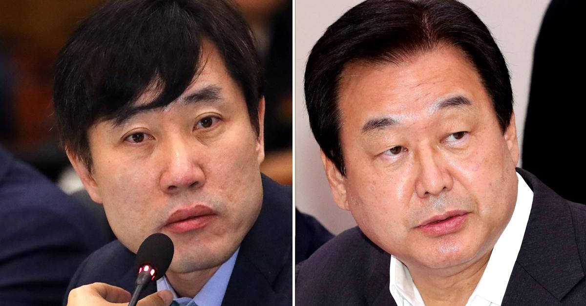 하태경 바른미래당 최고위원(왼쪽)이 5일 김무성 자유한국당 의원에 대해 비판했다. [중앙포토, 연합뉴스]