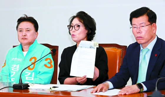지난 지방선거 당시 막말사건 입장 밝히는 이재명 후보 형수 박인복씨   [연합뉴스]